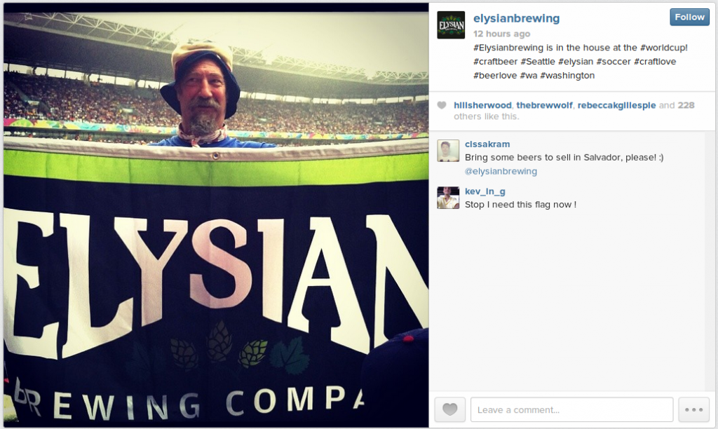 Elysian Brewery at the World Cup