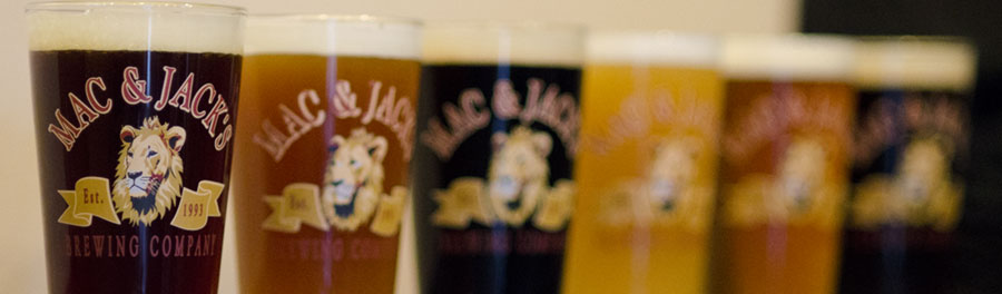 Try all 6 Mac and Jack beers at the Mint Restaurant and Alehouse