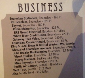 local business supported by the mint in enumclaw