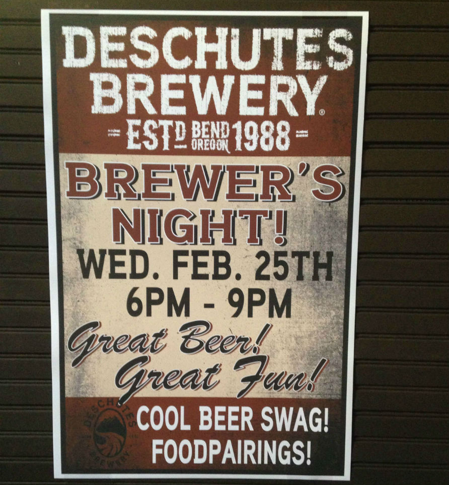 Deschutes Brewers Night at the Mint poster
