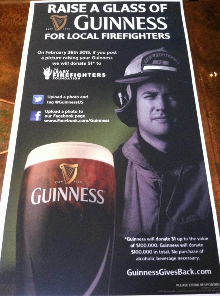 Guinness Raise a Pint for Firefighters Poster