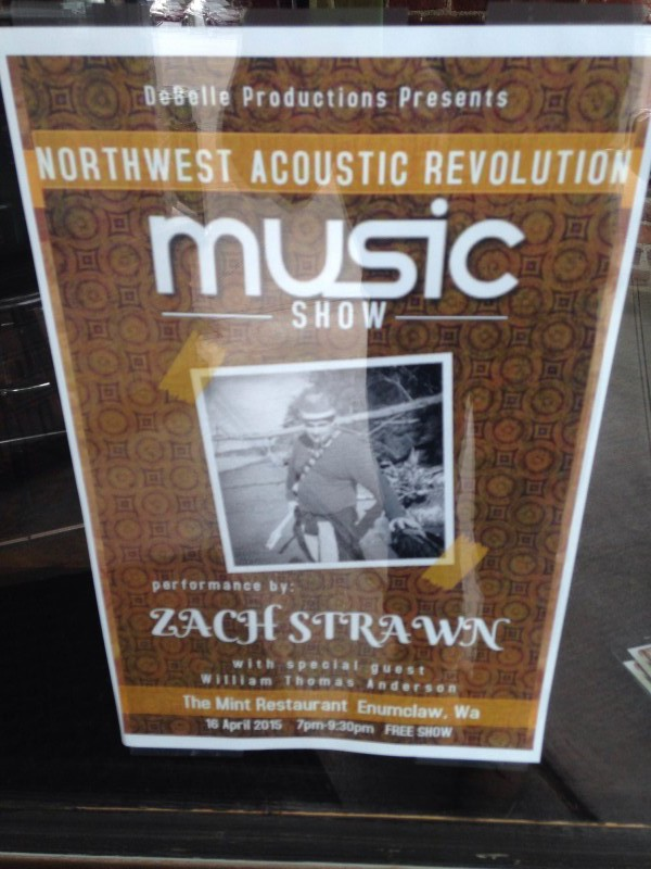 Zach Strawn live at the Mint poster